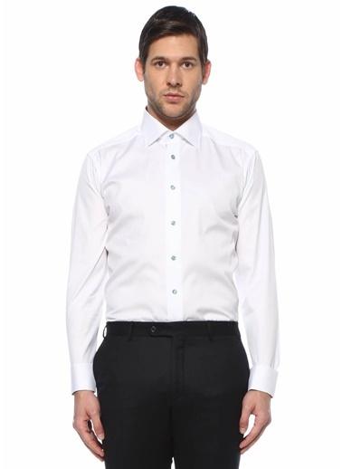 Eton Eton  Modern Yaka Gömlek 101612209 Beyaz
